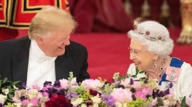 Queen and Donald Trump