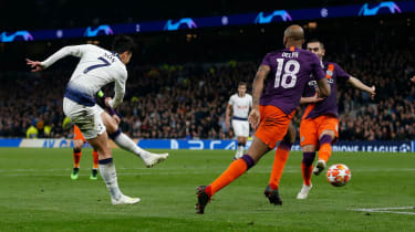 Tottenham striker Son Heung-min scored the winner against Manchester City in the first leg