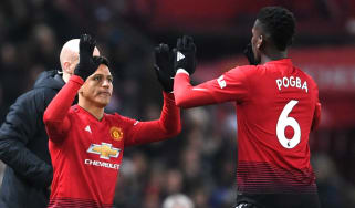 Alexis Sanchez and Manchester United team-mate Paul Pogba