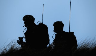 Royal Marines from 42 Commando take part in an exercise in Scotland