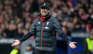 Liverpool manager Jurgen Klopp reacts during the 1-0 defeat at Atletico Madrid