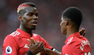 Manchester United midfielder Paul Pogba and striker Marcus Rashford