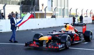 Red Bull's Max Verstappen drives the RB8 at the newly-renovated Zandvoort Circuit