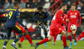 Bukayo Saka scored Arsenal's goal in the 2-2 draw against Standard Liege