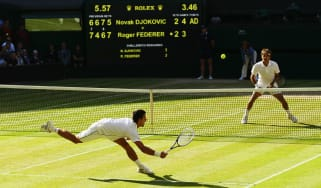 Novak Djokovic beat Roger Federer in the 2014 and 2015 finals at Wimbledon