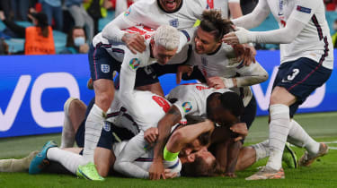 England team celebrate during their semi-final win