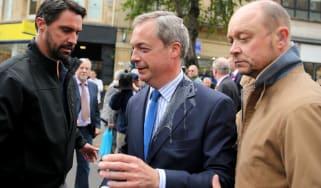 Nigel Farage egged in Nottingham