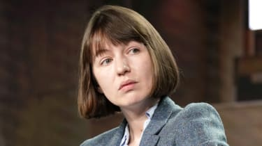 Sally Rooney pictured during a panel event in 2020