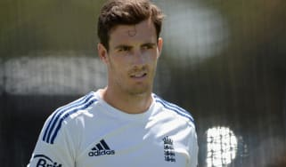 Steven Finn leaves the England camp