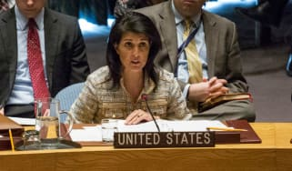 US ambassador Nikki Haley at the UN Security Council