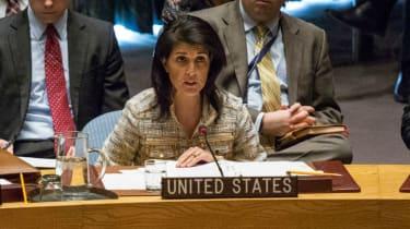 US ambassador Nikki Haley at the UN Security Council