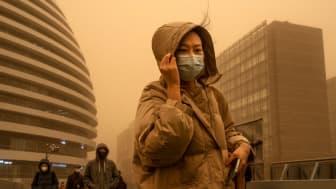 Orange skies in Beijing