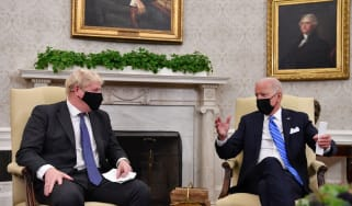Boris Johnson and Joe Biden in the White House