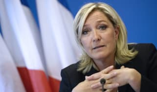 Far-right National Front leader Marine Le Pen