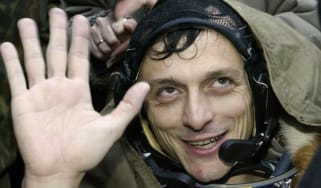 Pedro Duque after his final space flight in 2003