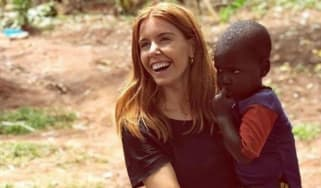 Stacey Dooley was pictured holding a child during a Comic Relief trip to Africa