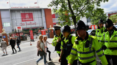 Police officers outside Manchester Arena ahead of Ariana Grande benefit concert