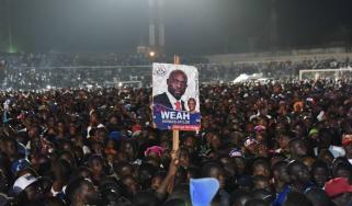 Presidential candidate Liberia former footballer George Weah
