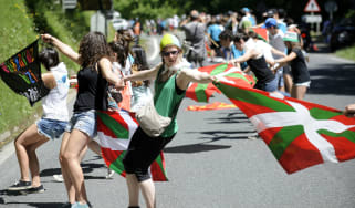 Basque separatists join hands in a human chain protest in 2014