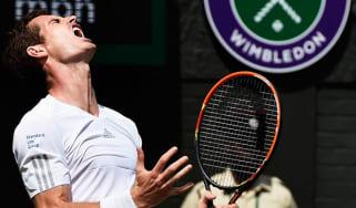 Andy Murray during his quarter-final match against Grigor Dimitrov