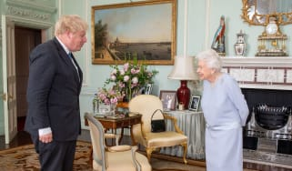 Boris Johnson meets the Queen in person for the first time in 15 months