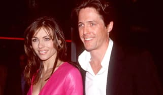 "370137 01: FILE PHOTO: Elizabeth Hurley and Hugh Grant attend the premiere of ""Mickey Blue Eyes"" August 17, 2000 in Westwood, CA. The couple of 13 years have decided to call it quits May 23,"