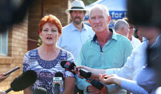 Steve Dickson with One Nation leader Pauline Hanson