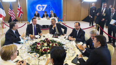 G7 leaders and President of the European Commission Jose Manuel Barroso