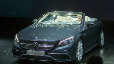 The Mercedes-Benz S65 Cabriolet is displayed during the company's press conference at the 2016 North American International Auto Show in Detroit, Michigan, January11, 2016.AFP PHOTO / GEOFF R