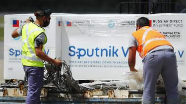 Shipments of the Russian Sputnik vaccine