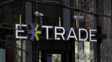 SAN FRANCISCO, CALIFORNIA - FEBRUARY 20: A sign is posted in the exterior of an E*Trade office on February 20, 2020 in San Francisco, California. Morgan Stanley announced plans to buy online