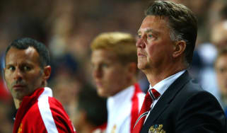 Man Utd manager Louis van Gaal and Ryan Giggs,