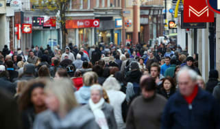 Consumers on Nottingham high street