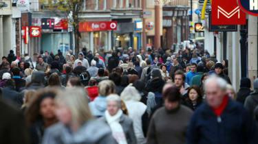 Consumers on Nottingham high street