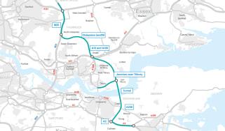Lower Thames Crossing, Map, Motoerway
