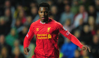SWANSEA, WALES - SEPTEMBER 16:Liverpool striker Daniel Sturridge in action during the Barclays Premier League match between Swansea City and Liverpool at Liberty Stadium on September 16, 2013