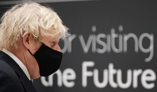 Boris Johnson on a visit to BAE Systems