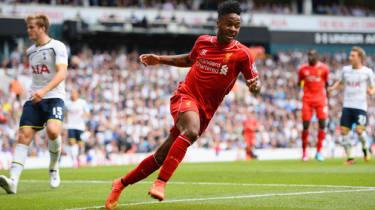 Raheem Sterling scores for Liverpool against Spurs