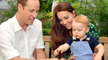 Prince George with butterfly
