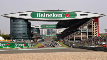 The F1 Chinese Grand Prix is held at the Shanghai International Circuit
