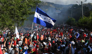 Thousands march in Honduras following disputed presidential election