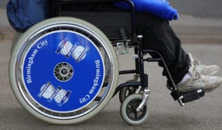 A wheelchair-bound person