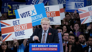 Boris Johnson at the launch of the Conservative Party's campaign in Birmingham.