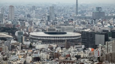 The National Stadium in Tokyo, Japan
