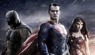 Henry Cavill, Ben Affleck and Gal Gadot as Superman, Batman and Wonder Woman