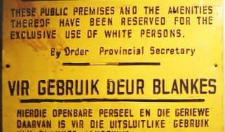 Apartheid Sign