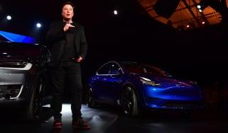 Tesla Model Y Elon Musk
