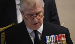 Prince Andrew attends a service at Manchester Cathedral marking the 100th anniversary of the Battle of the Somme