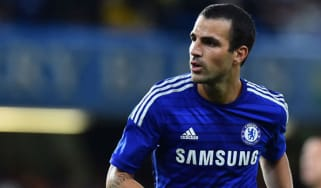 Cesc Fabregas during a pre-season game at Stamford Bridge