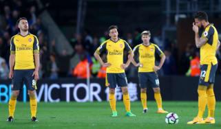 Aaron Ramsey, Mesut Ozil, Nacho Monreal and Olivier Giroud